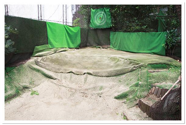 千葉県のエイティーワンゴルフ倶楽部バンカー練習場